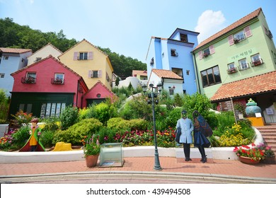 GYEONGGI, SOUTH KOREA - June 10,2016  : Petite France a popular tourist landmark in Gyeonggi, South Korea