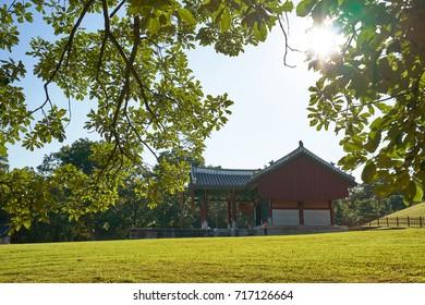 Gyeonggi-do, Korea - September 13. 2017 : Donggureung Royal Tombs, World Heritage by the Unesco, Joseon Dynasty