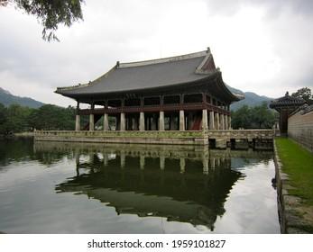 Gyeonghoeru (Royal Banquet Hall) at Gyeongbokgung or Gyeongbok Palace, which was the main royal palace of the Joseon dynasty, located in northern Seoul, South Korea, Asia