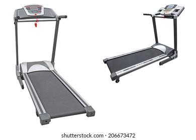 gym apparatus under the white background