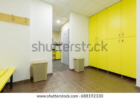 Gym bathroom stock photo edit now 688192330 shutterstock