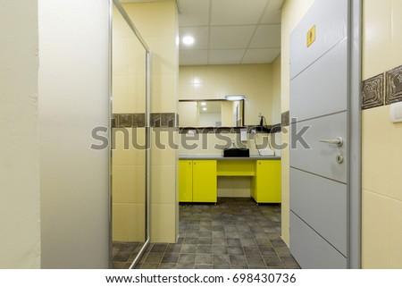 Gym bathroom stock photo edit now 698430736 shutterstock