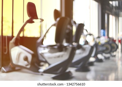 Gym blur background fitness center, workout personal training studio, health club with blurry sports exercis