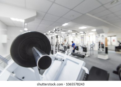 In the gym with equipment