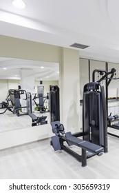 Gym and fitness club interior