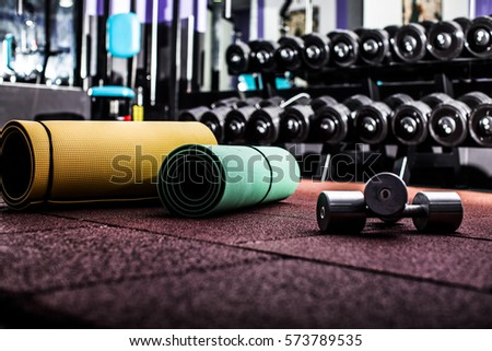 Gym fitness room