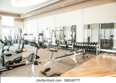 gym - healthy fitness club clean center