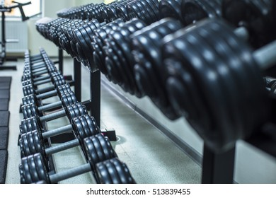 gym. healthy lifestyle, dumbbells