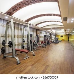 Equipment design modern gym stock photo edit now