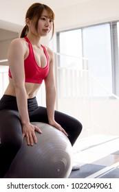 gym japanese woman