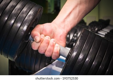 in the gym man training