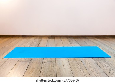 Gym with yoga mat interior