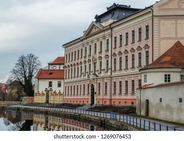 Gymnasium in Ceske Budejovice (Budweis), Czech Republic