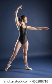 Gymnast and dancer performing actions. Acrobatic gymnastic.