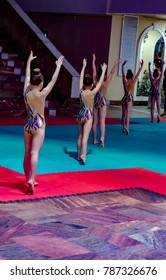 Gymnastic championship in Odintsovo, Moscow region, Russia