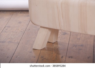 gymnastic horse, wooden stool