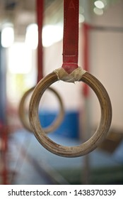 Gymnastic rings close up,professional sport equipment