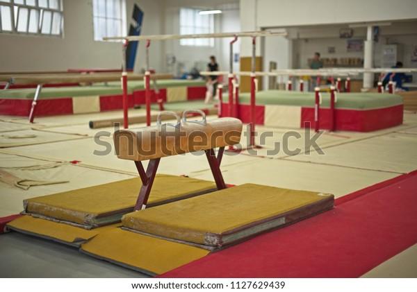 Sala de Gimnasia. Equipamiento deportivo.