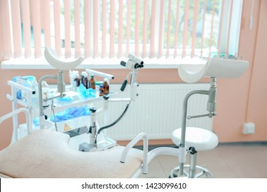 Gynecological chair in modern clinic