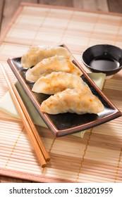 Gyoza dumplings, popular japanese food