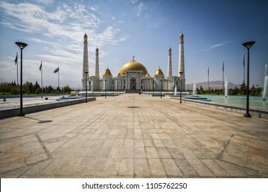 Gypjak Mosque (Turkmenbasy Ruhy Mosque) Ashgabat, Turkmenistan