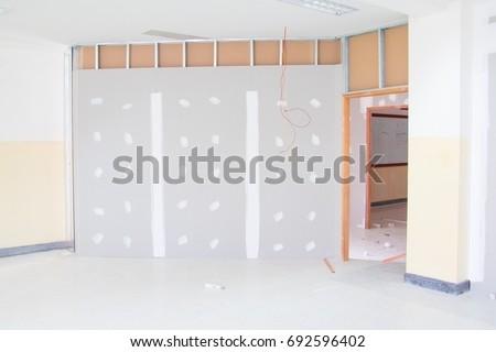 Gypsum Board Wall Interior Decoration Home Stock Photo (Edit Now ...
