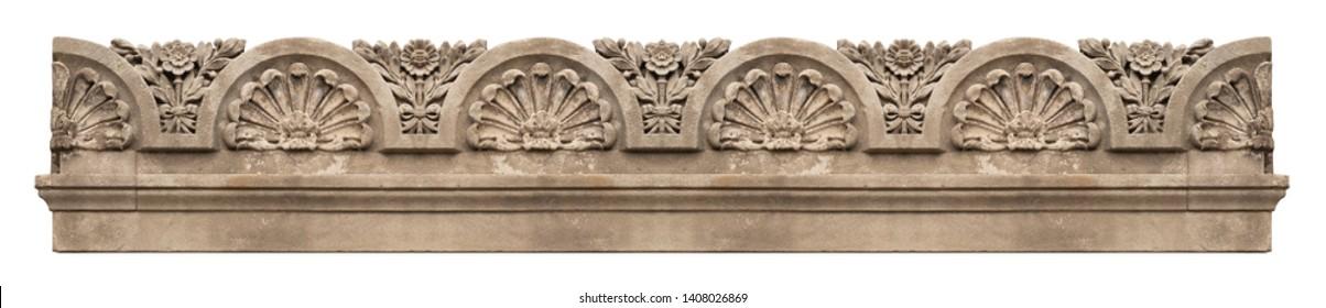 Gypsum cornice, moldings, baseboards and friezes
