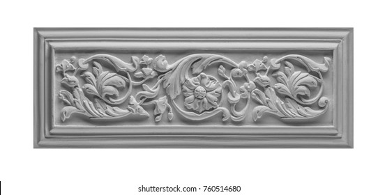 Gypsum cornice, moldings on a white background
