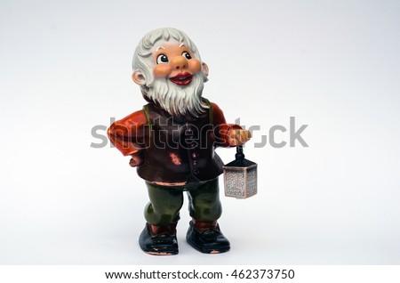 Gypsum figures dwarf isolated