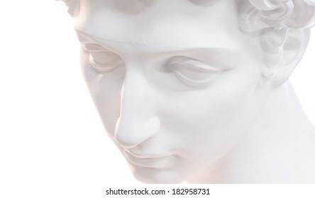 A gypsum statue of Giuliano de Medici