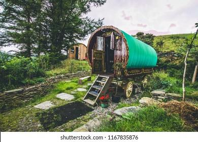 Gypsy caravan in Wales