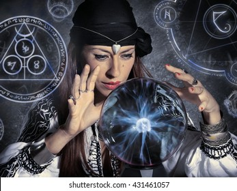 gypsy fortune teller forecasting future