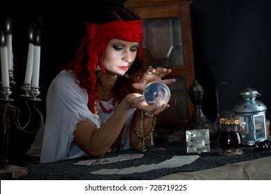 gypsy fortune teller wonders on the magic ball,gypsy fortune teller read the cards