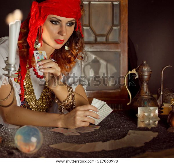 Gypsy Fortune Teller Wonders On Magic Stock Photo (Edit Now