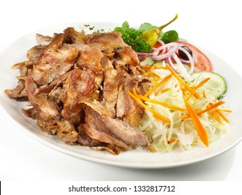 Gyros Plate with Coleslaw and Onions