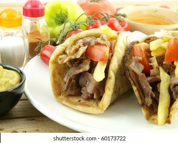 Gyros with pork meat