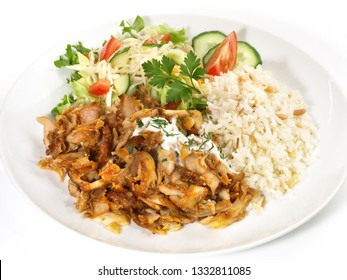 Gyros with Rice and Salad