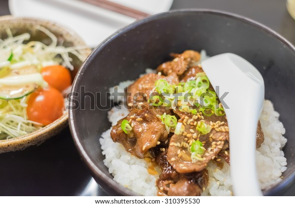 Gyu Donburi Japanese Grilled Beef Rice Stock Photo Edit Now 310395530