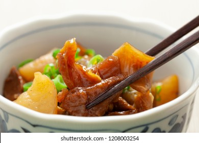 Gyusuji Nikomi (Beef Tendons Simmered in Soy Sauce) / Japanese food