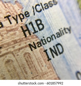 H1B visa page of Indian national
