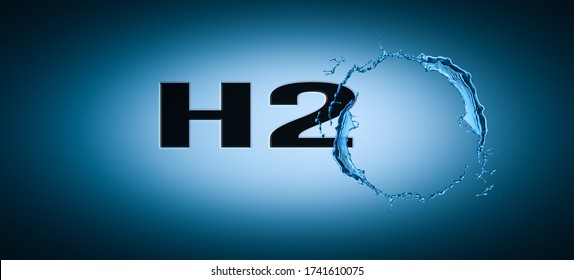 h20 pure water concept background