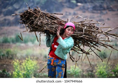 Ha Giang, Vietnam - March 17, 2018: Rural worker in a remote area of nothern Vietnam. Credit: Dino Geromella/Shutterstock