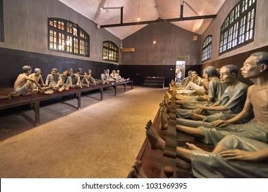 Ha Noi, Vietnam-28 November 2014:The Maison Centrale Hoa Lo Prison