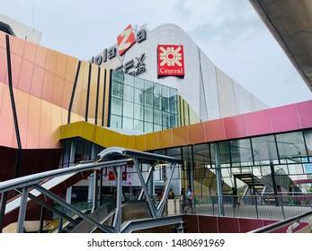 Ha Yaek Lat Phrao Station ,Skytrain (N9) BTS - AUGUST 10,2019 : BTS Skytrain Station is linked via skybridge to the Central Plaza Lat Phrao shopping mall.