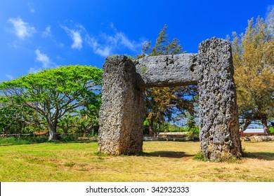 Ha'amonga 'a Maui in Nuku'alofa, Kingdom of Tonga