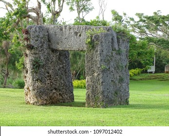 Ha'amonga A Maui is a trilithon located in Tongatapu, the main island of Tonga. It is constructed with three limestone. People named this place like Pacific Stonehenge.