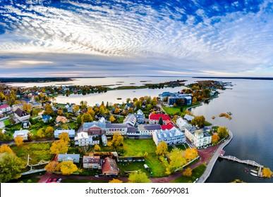 Haapsalu city drone view