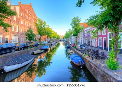 Haarlem architecture and canals, Netherlands