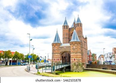 Haarlem attraction, Amsterdamse Poort gateway, Netherlands.