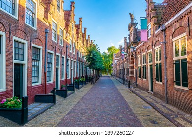 HAARLEM, NETHERLANDS, AUGUST 8, 2018: View of Frank Hals museum in the center of Haarlem, Netherlands